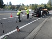 Crews working on a crack