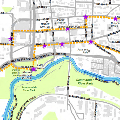 Town Gown Loop Map
