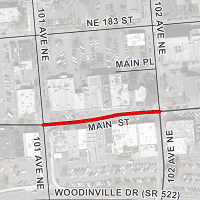 Main Street closure map