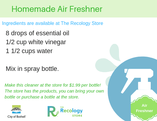 Homemade Air Freshner recipe card