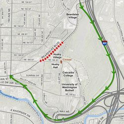 Beardslee Blvd closure map