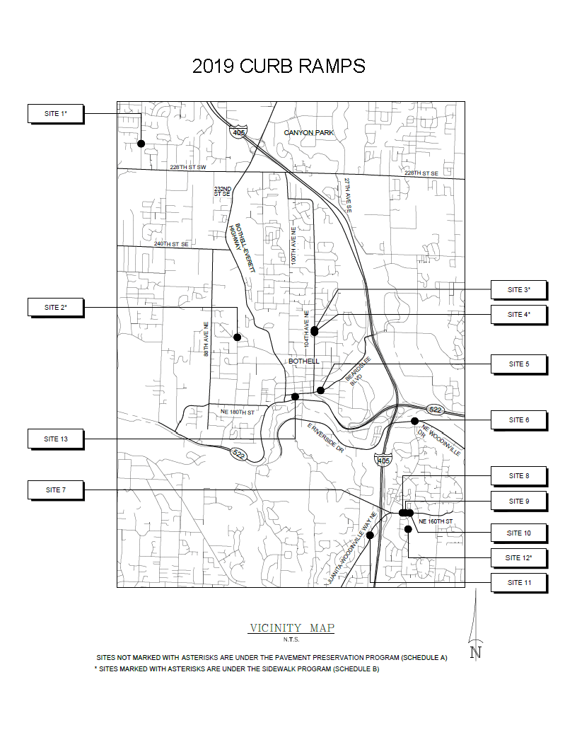 2019 ADA Curb Ramps - Vicinity Map