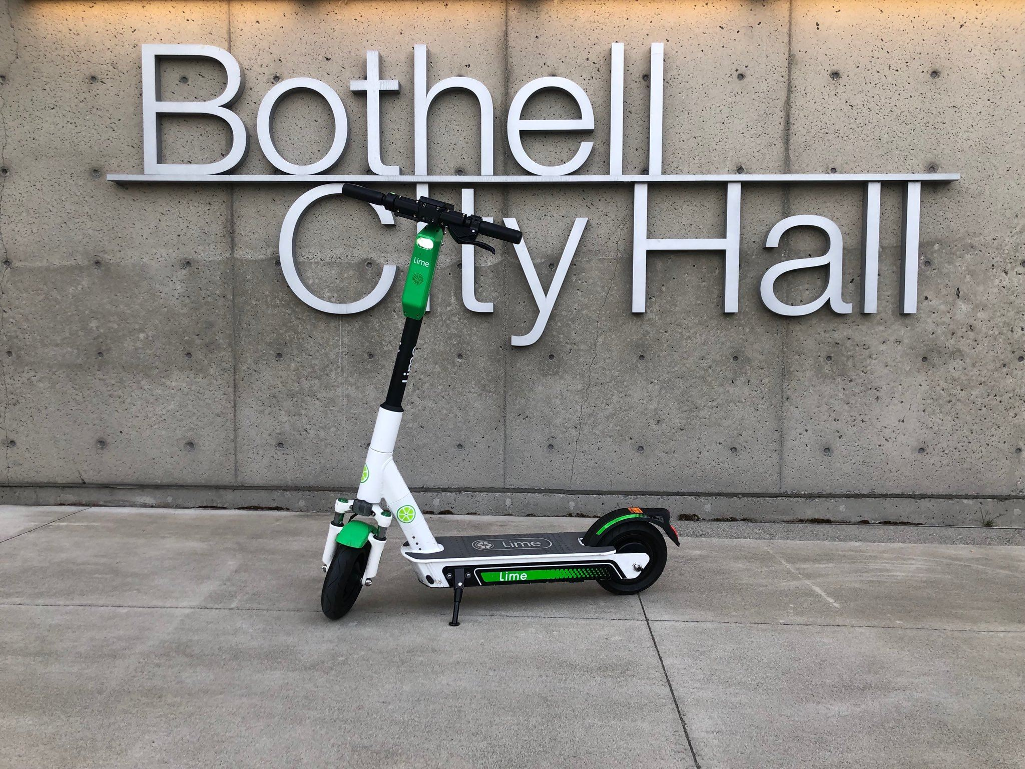 City Hall Lime Scooter